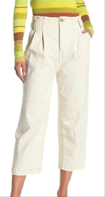 Item - Ecru High Rise Crop Pleated Carrot Pants Size 0 (XS, 25)
