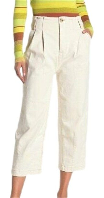 Item - Ecru High Rise Crop Pleated Carrot Pants Size 2 (XS, 26)