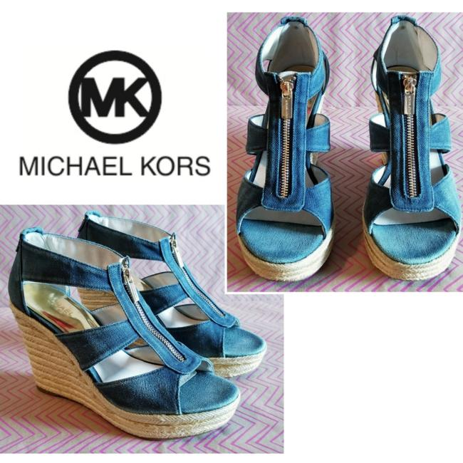 Item - Blue Denim Wedges Size US 9 Regular (M, B)