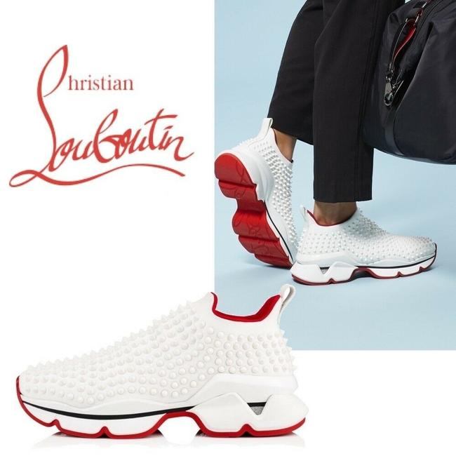 Christian Louboutin White Donna Athletic Size US 7 Regular (M, B) Christian Louboutin White Donna Athletic Size US 7 Regular (M, B) Image 1