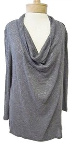 Joie Soft Knit Long Sleeve Drape Neck Hi Lo Sweater Cardigan