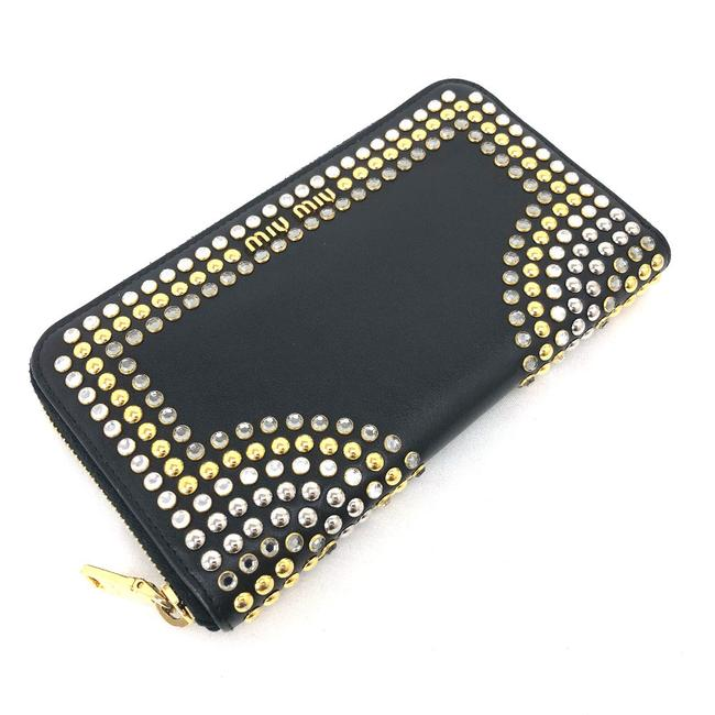 Item - Black Long Round Zip Vittello Crystal 5m0506 Leather Ladies Wallet