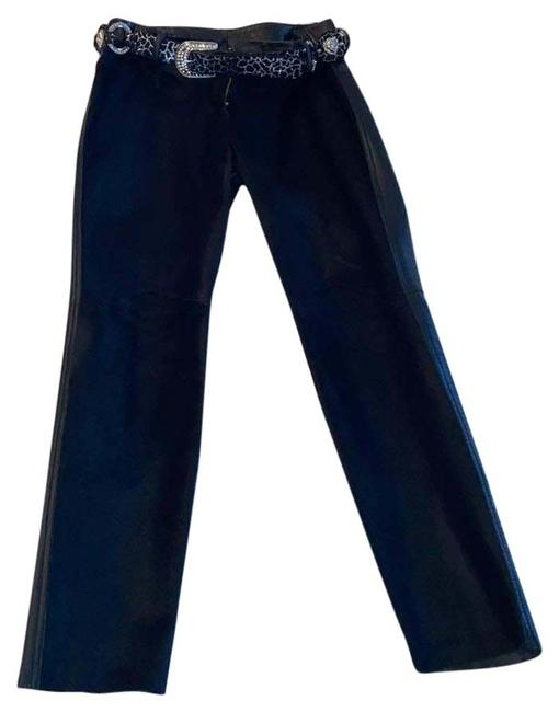 Item - Black Calf Hair & Leather Pants Size 6 (S, 28)