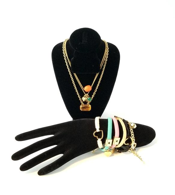 "Item - Multicolor Seven Piece Boho 19"" and Bracelet Set Necklace"