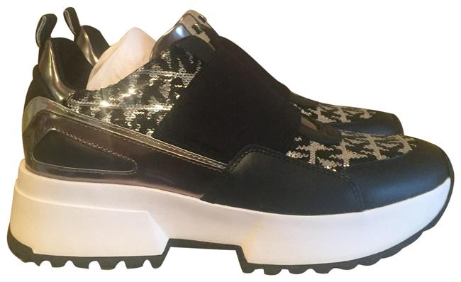 Item - Black White Silver Cosmo Sequin Logo Sneakers Size US 7.5 Regular (M, B)