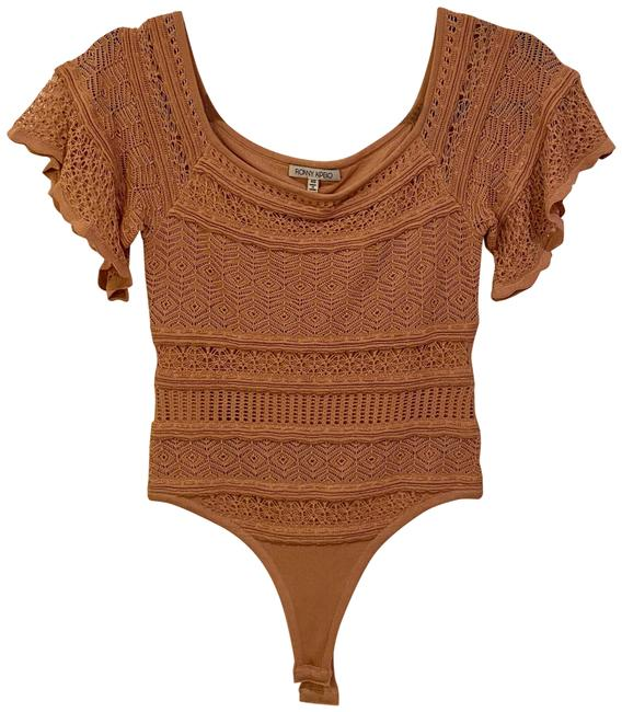 Torn by Ronny Kobo Bodysuit Nude Top Torn by Ronny Kobo Bodysuit Nude Top Image 1