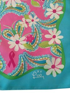 Lilly Pulitzer Lilly Pulitzer 100% silk floral scarf in honor of breast cancer awareness.