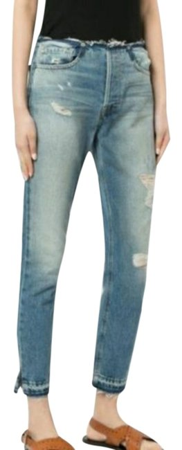Item - Blue Distressed Rigid Re-release Le Skinny Jeans Size 29 (6, M)