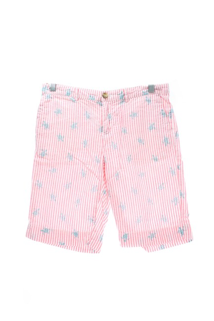 Item - Pink & White Striped Turtle Print Shorts Size OS (one size)