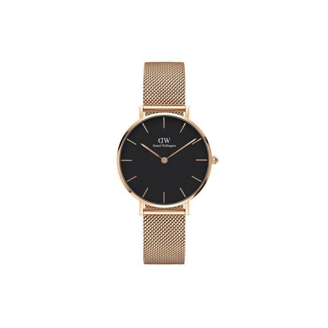 Item - Rose Gold Melrose And Black Dw00100161 Classic Petite Ladies Watch