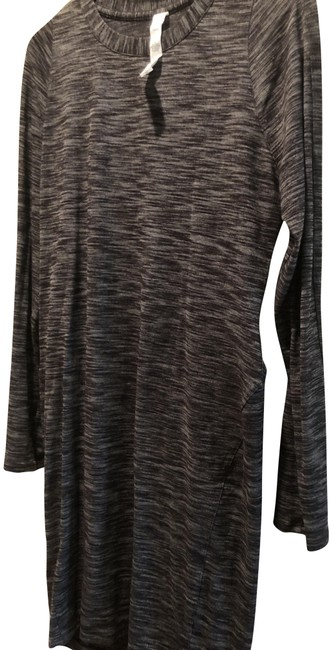 Item - Heathered Black Where To Long Sleeve Short Casual Maxi Dress Size 10 (M)