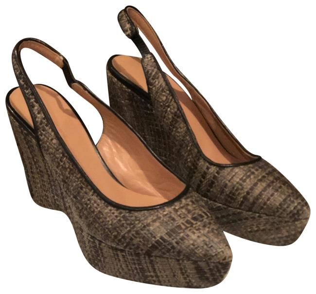 Item - Brown Woven Pointed Toe Wedges Size EU 36 (Approx. US 6) Regular (M, B)