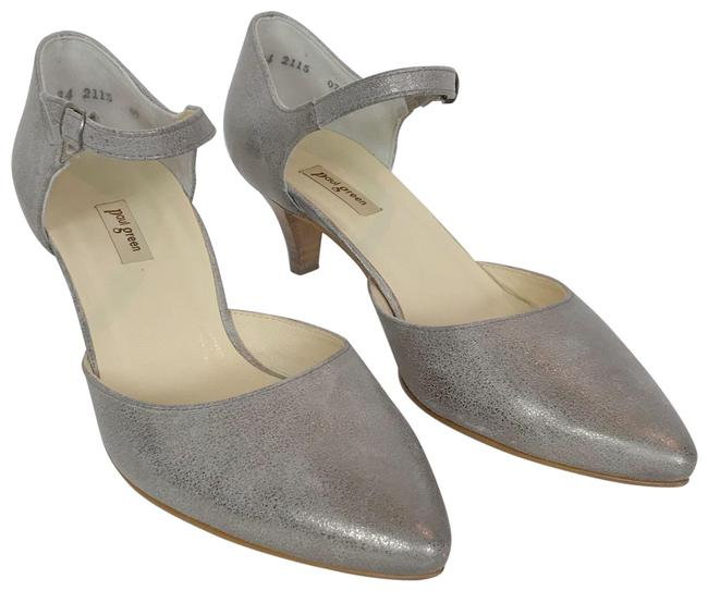 Item - Silver Metallic Opal Pumps Size US 7.5 Regular (M, B)