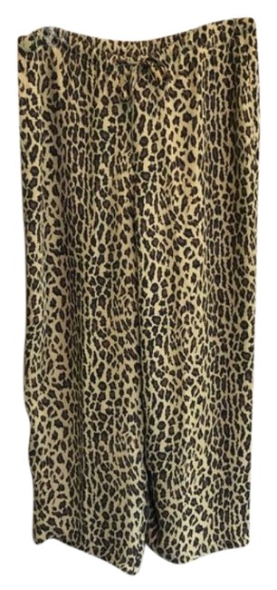 Item - Tan Black Lrl Silk Animal Print Pajama Pants Size 4 (S, 27)