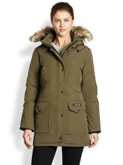 Item - Green Trillium Women's Military Down Parka Coyote Fur Trim Coat Size 2 (XS)