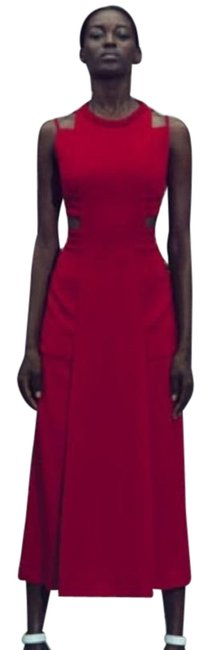 Item - Red Sable Maxi with Cutouts In Caipiroska Long Formal Dress Size 4 (S)