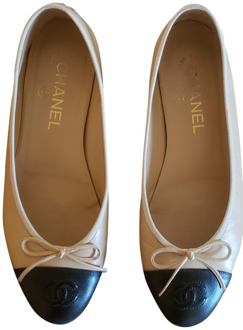 Item - Brown and Black Two-tone Ballerina Leather Flats Size US 7.5 Wide (C, D)