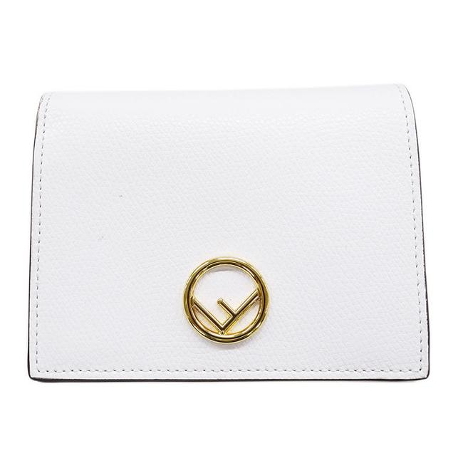 Item - White Bi-fold Leather Ladies Wallet