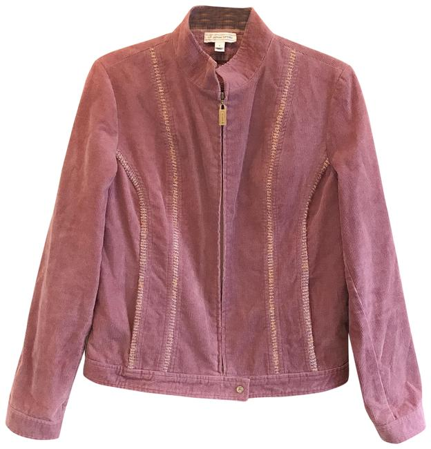 Item - Pink Purple Sport Mauve Lavender Corduroy Embroidered Zip Small Jacket Size 4 (S)