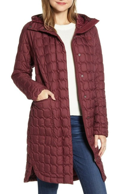 Item - Burgundy Thermoball Water Resistant Duster Jacket Maroon Coat Size 2 (XS)