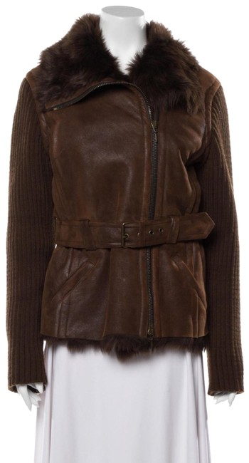 Item - Brown Tuscan Lamb Leather And Coat Size 10 (M)