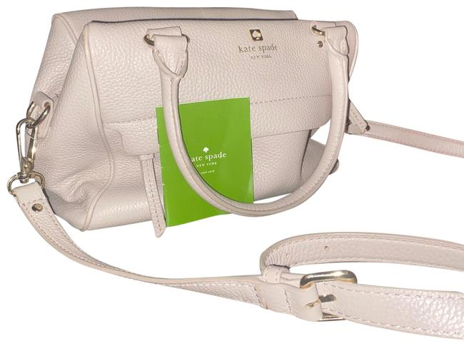 Kate Spade New Taupe/Lavender Lambskin Leather Shoulder Bag Kate Spade New Taupe/Lavender Lambskin Leather Shoulder Bag Image 1