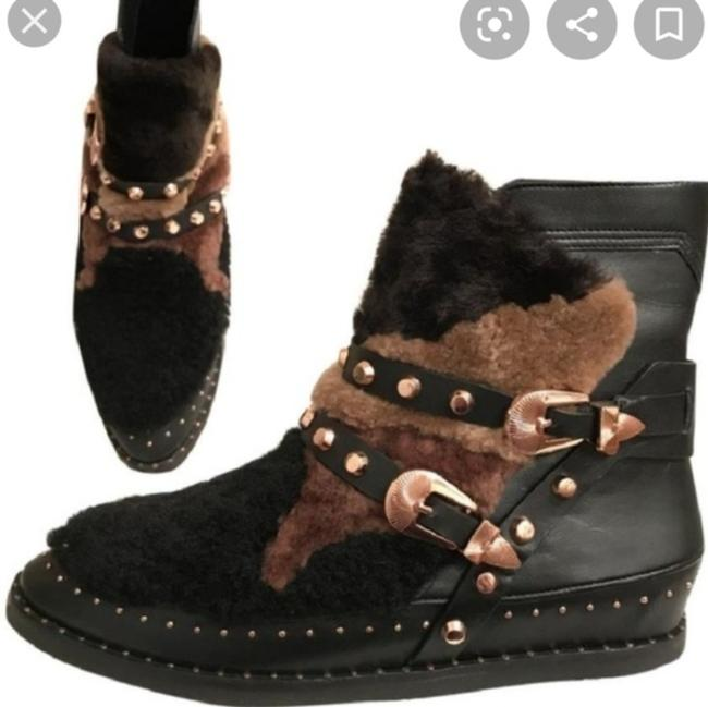Item - Multicolor Antarctic Genuine Shearling Patchwork Boots/Booties Size US 9.5 Regular (M, B)