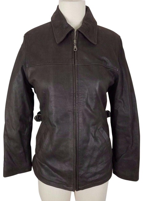 Item - Brown Oakwood Classic Full Zip Up Half Belted Insulated Jacket Size 6 (S)