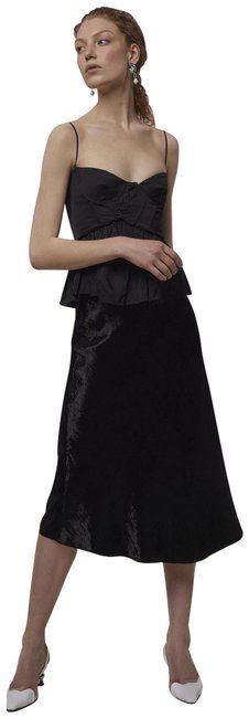 Item - 0 Gathered Bustier Corset Black Top