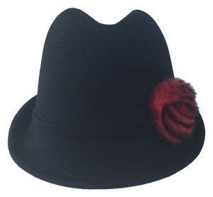 Christys Black Fedora With Rosette