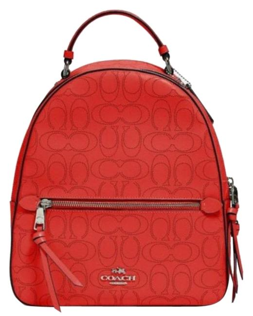 Item - Jordyn Red Leather Backpack