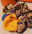 Hermès Yellow Vintage Handmade Ecuries Silk Scarf Scrunchie In Hair Accessory Hermès Yellow Vintage Handmade Ecuries Silk Scarf Scrunchie In Hair Accessory Image 2