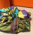 Hermès Green Handmade En Voyage Silk Scarf Scrunchie Hair Accessory Hermès Green Handmade En Voyage Silk Scarf Scrunchie Hair Accessory Image 2
