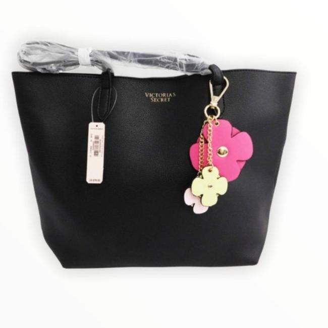 Item - Small Black Faux Leather Tote