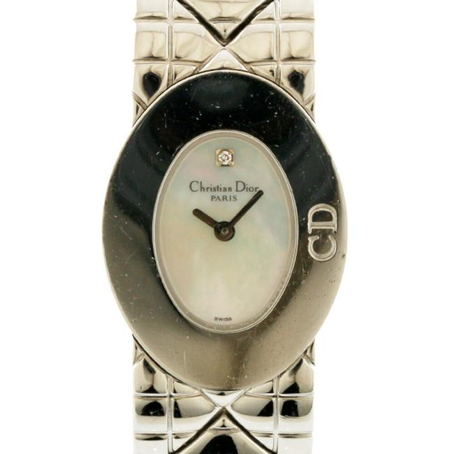 Item - White Shell Silver Ladies Stainless Steel Watch
