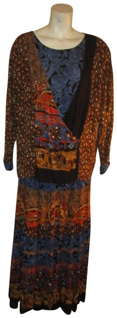 Item - Multicolor Vintage 2 Piece Tunic and Tiered Skirt Mid-length Casual Maxi Dress Size 8 (M)