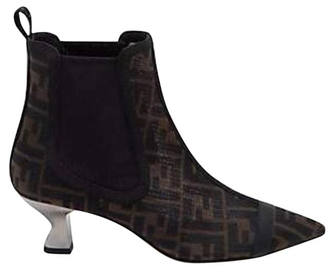 Item - Black and Brown Boots/Booties Size US 8.5 Regular (M, B)