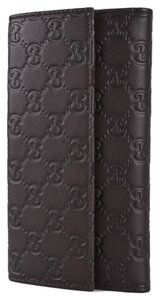 Gucci Gucci Chocolate Brown Leather GG Guccissima Wallet W/Coin Pocket NEW