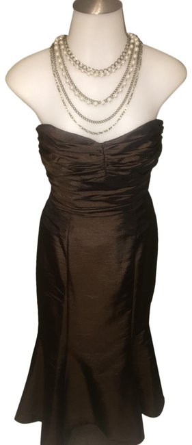 Item - Brown Fit & Flare Long Formal Dress Size 2 (XS)