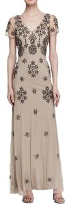 Adrianna Papell Gown Full Length V-neck Dress