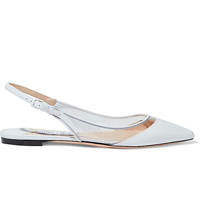 Item - White New Erin Pvc and Leather Slingback Point-toe Flats Size EU 39 (Approx. US 9) Regular (M, B)