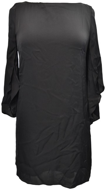 Item - Black Bell Sleeve Small (6) Mid-length Cocktail Dress Size 6 (S)