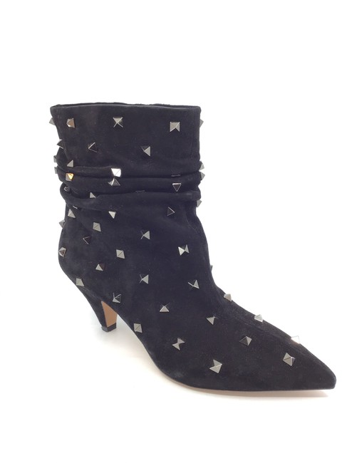 Item - Black Suede Ruched Rock Stud Boots/Booties Size US 9.5 Regular (M, B)