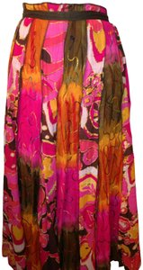 Other All Cotton Crinkle Voile W Cotton Lining Skirt Bright Tropical