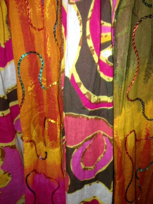 Other All Crinkle Voile W Lining Skirt Bright Tropical