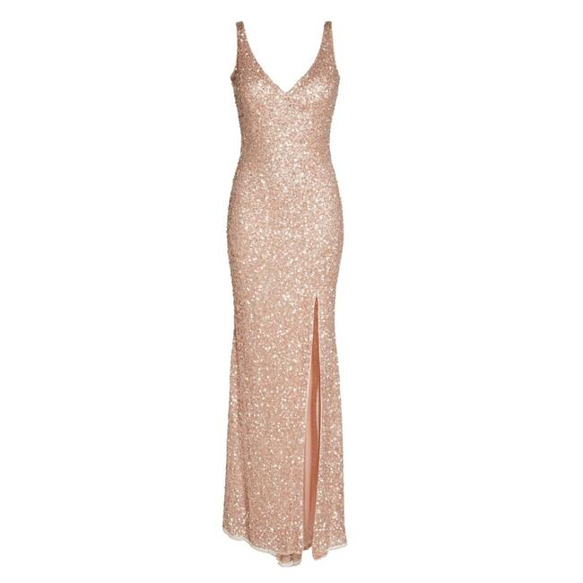 Item - Rose Gold Beaded Gown Long Formal Dress Size 0 (XS)