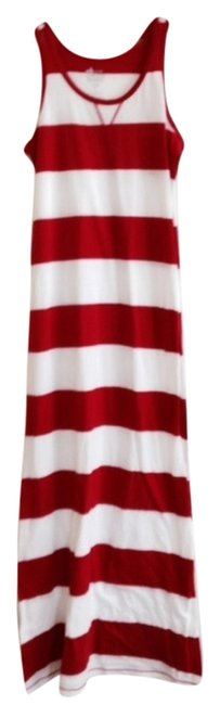 Item - Red & White Long Casual Maxi Dress Size 8 (M)