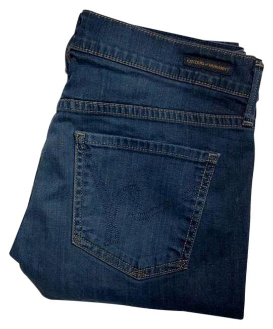 Item - Blue Dark Rinse Ava Low Straight Leg Jeans Size 28 (4, S)