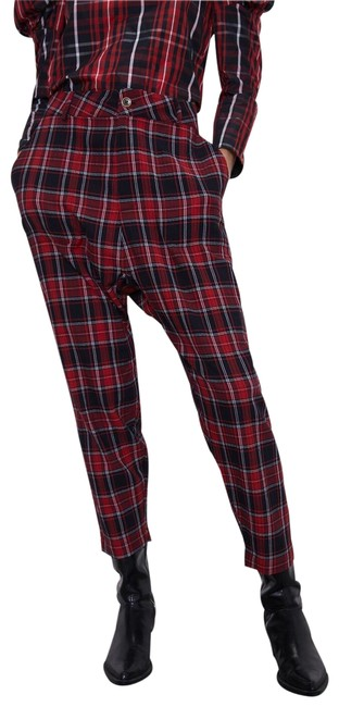 Item - Red/Black Baggy New Plaid Plaid Ref 3666/168 Pants Size 2 (XS, 26)