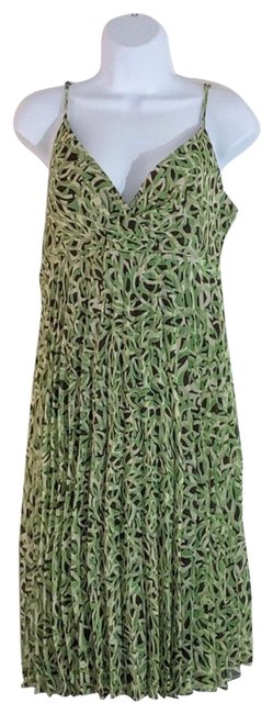 Item - Green and Brown Mid-length Short Casual Dress Size 16 (XL, Plus 0x)